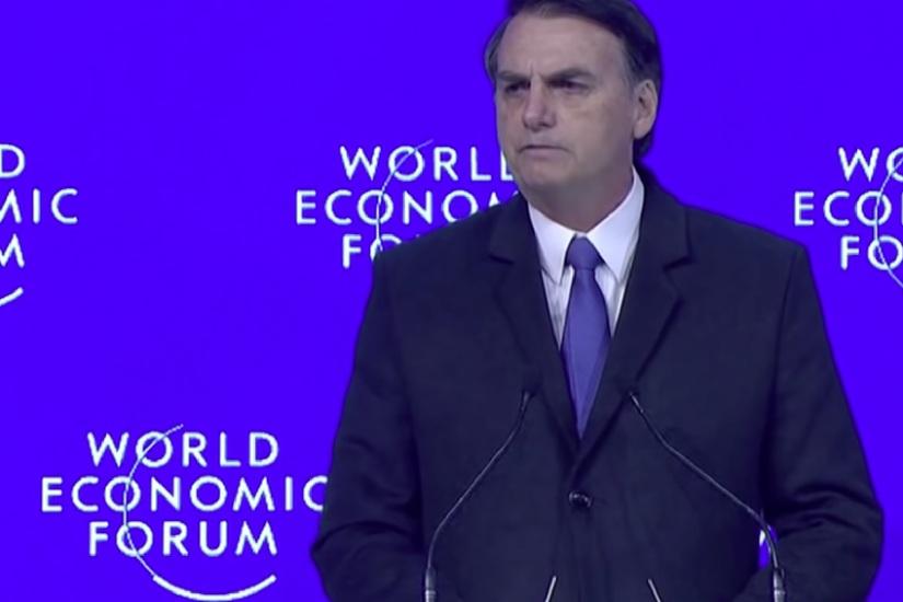 Conferencia de Bolsonaro en el Foro de Davos