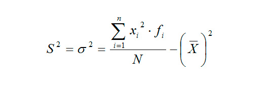 Calculate the variance