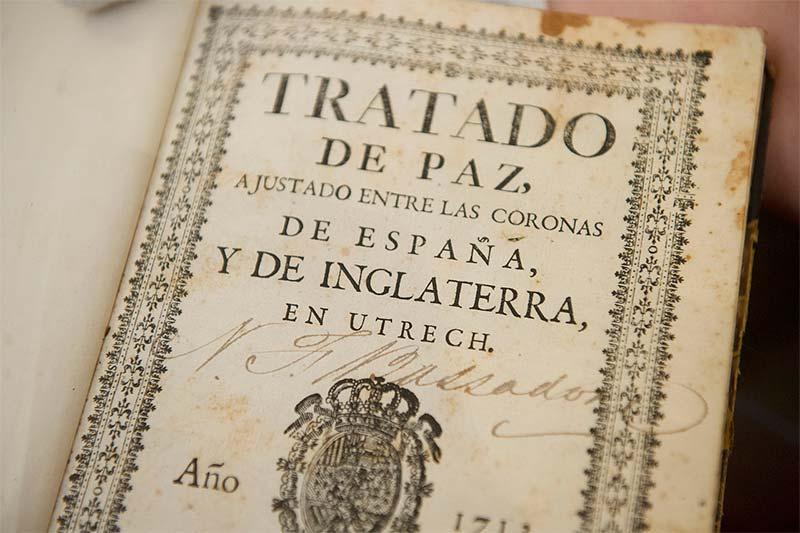 Reparto del Tratado de Utrecht